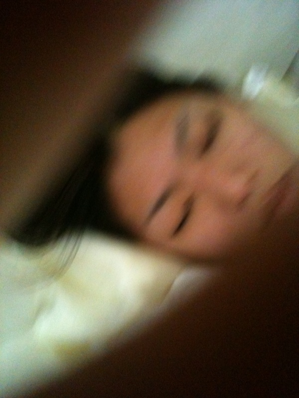Look who was snapping pictures of me while I was sleeping....