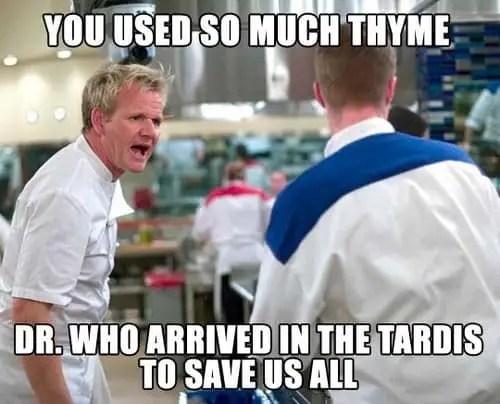 Gordon Ramsay Dr. Who meme