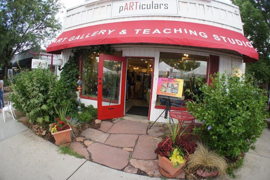 Fisheye photo of pARTiculars art gallery and teaching studio