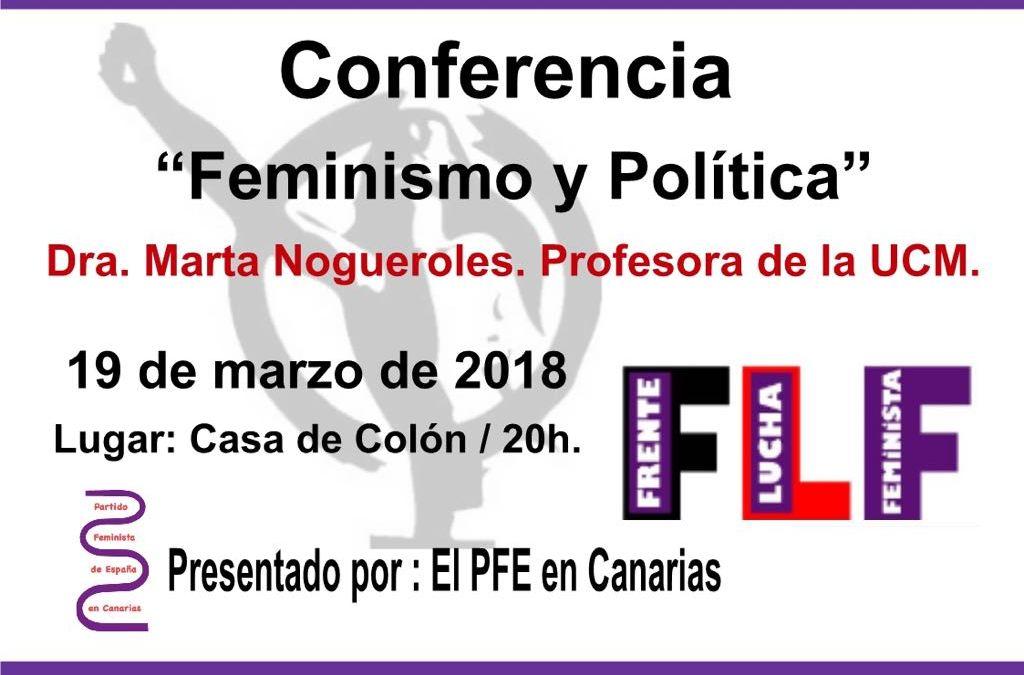 """Conferencia """"Feminismo y Política"""" – Presentado por: Partido Feminista en Canarias"""