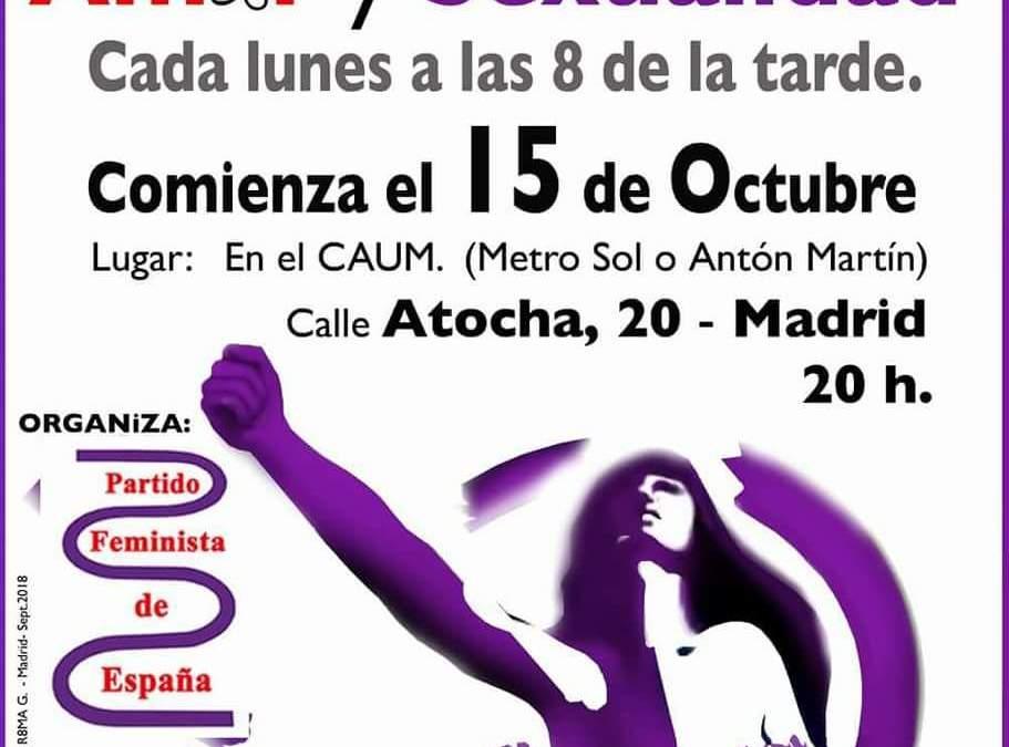 Cada Lunes, desde el 15 de Octubre – Encuentros sobre amor y sexualidad