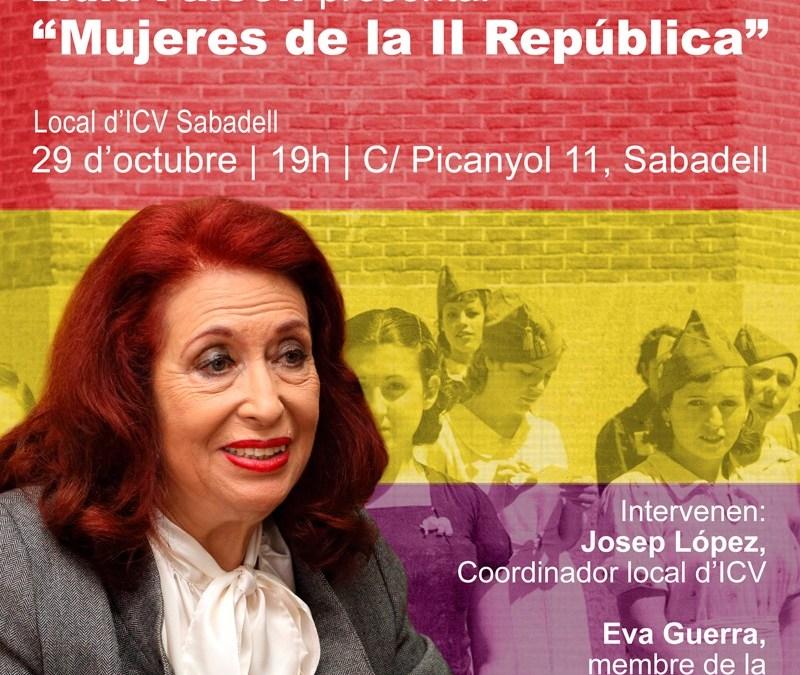 29 Octubre Sabadell – Presentación «Mujeres de la II República»