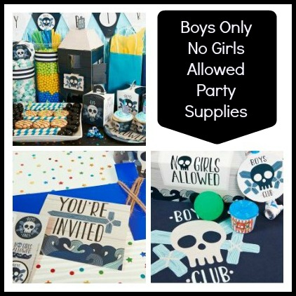 Boys Only No Girls Allowed Birthday Party Supplies
