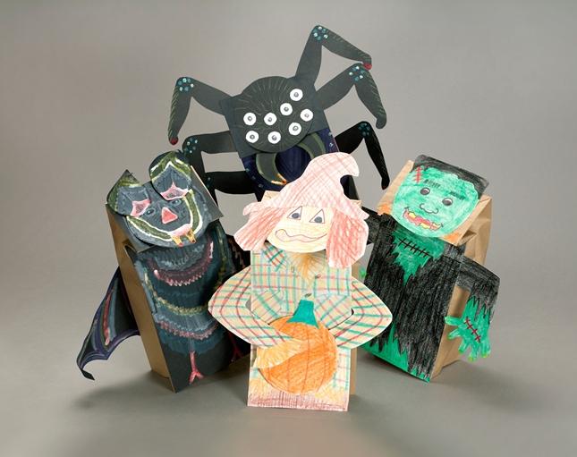 Paper Bag Halloween Puppets