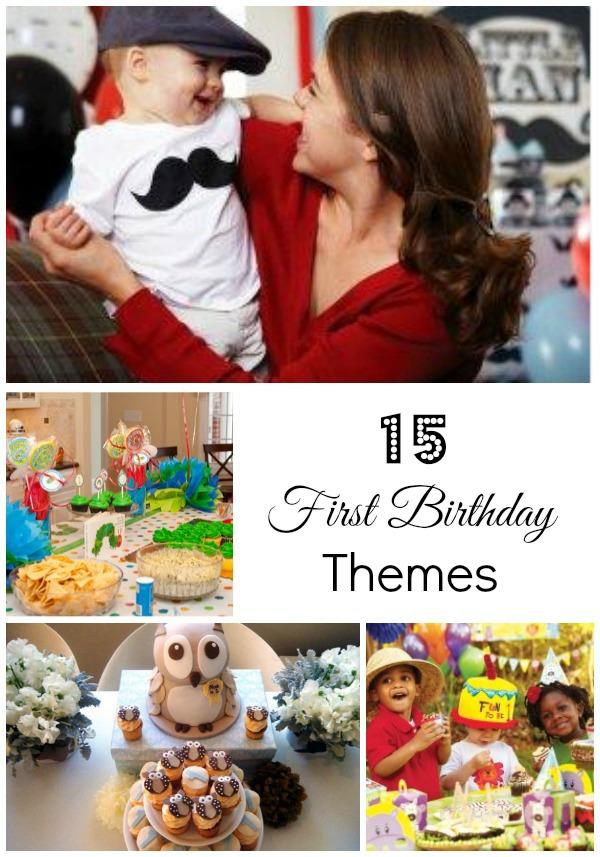 15 First Birthday Themes, First Birthday, 1st Birthday, Ideas for First Birthday, Ideas for 1st Birthday