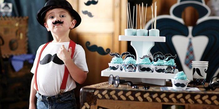 Little Man Mustache Party Theme
