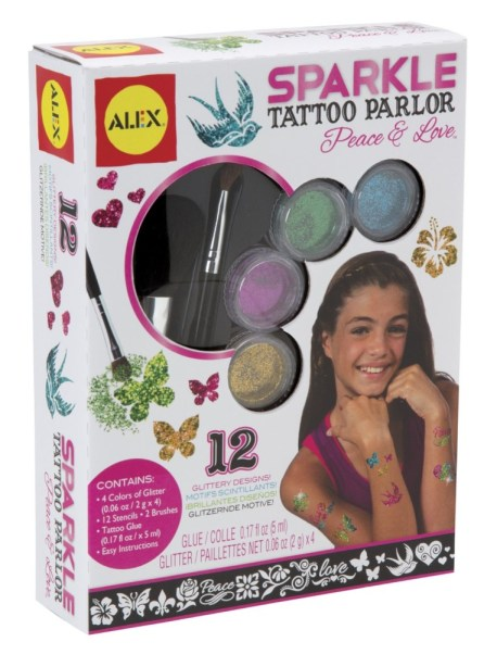 Sparkle Tattoo Parlor, Girls Spa Party Ideas