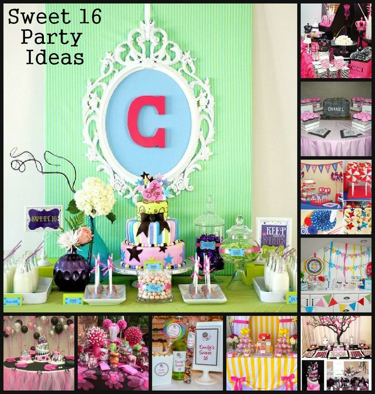 Sweet 16 party 10 gorgeous birthday table decoration for 16th party decoration ideas