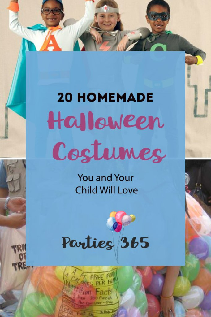 20 Easy Homemade Halloween Costumes you can make that your kids will actually love! DIY Halloween Costume | Homemade Halloween Costume | DIY Halloween