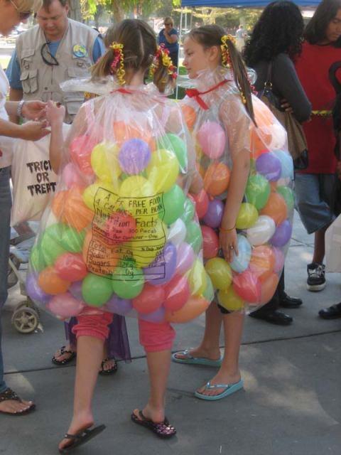 bag of jelly beans homemade halloween costume