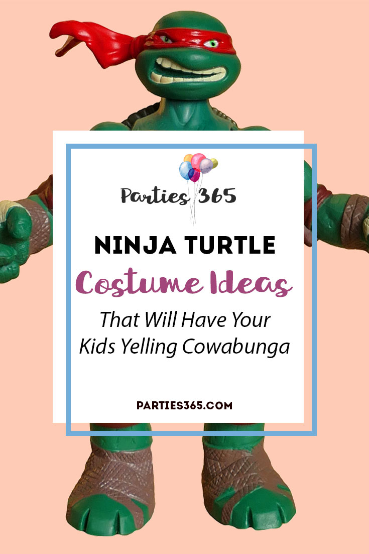 Do you have a child that's obsessed with being a Teenage Mutant Ninja Turtle for Halloween? If so, we've rounded up some totally turtlefied ideas for you! | Ninja Turtle Costumes for Kids | TMNT Costumes | Ninja Turtle Halloween