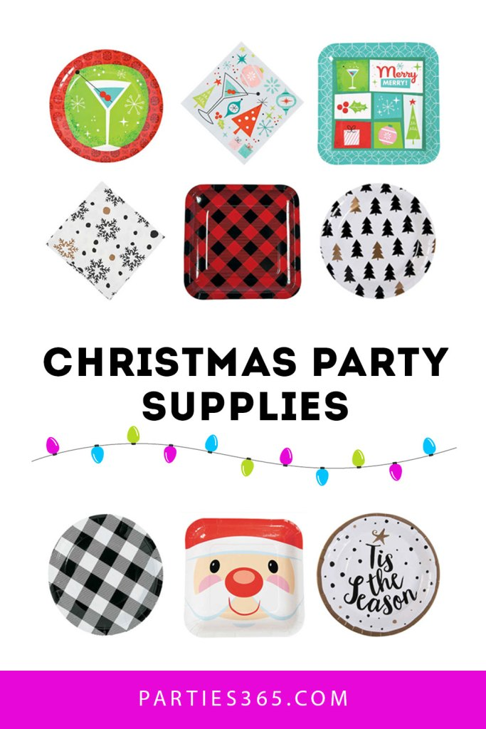 Looking for inspiration for your Christmas Party decor? We have 4 fabulous Christmas Party Plate ideas you'll absolutely love! From buffalo plaid to a cheery Santa, you'll want to check out these Christmas party supplies! #Christmas #holidays #partyplates #Christmasdecor #parties365