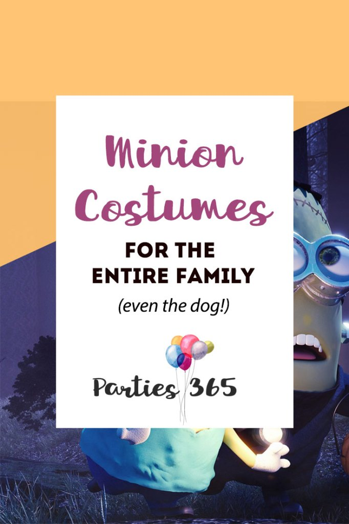 Are you searching for Minion Halloween Costumes for the whole family? We have some of the cutest rounded up here for you! Minion Costumes for Kids | Minion Costumes | Family Halloween Costumes | Dog Costumes