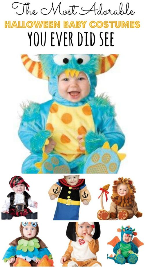 Looking for an adorable Halloween Baby Costume for your little one? We've rounded up some of the cutest ones around! Halloween Baby Costumes | Halloween Baby Costume Ideas | Baby Costumes