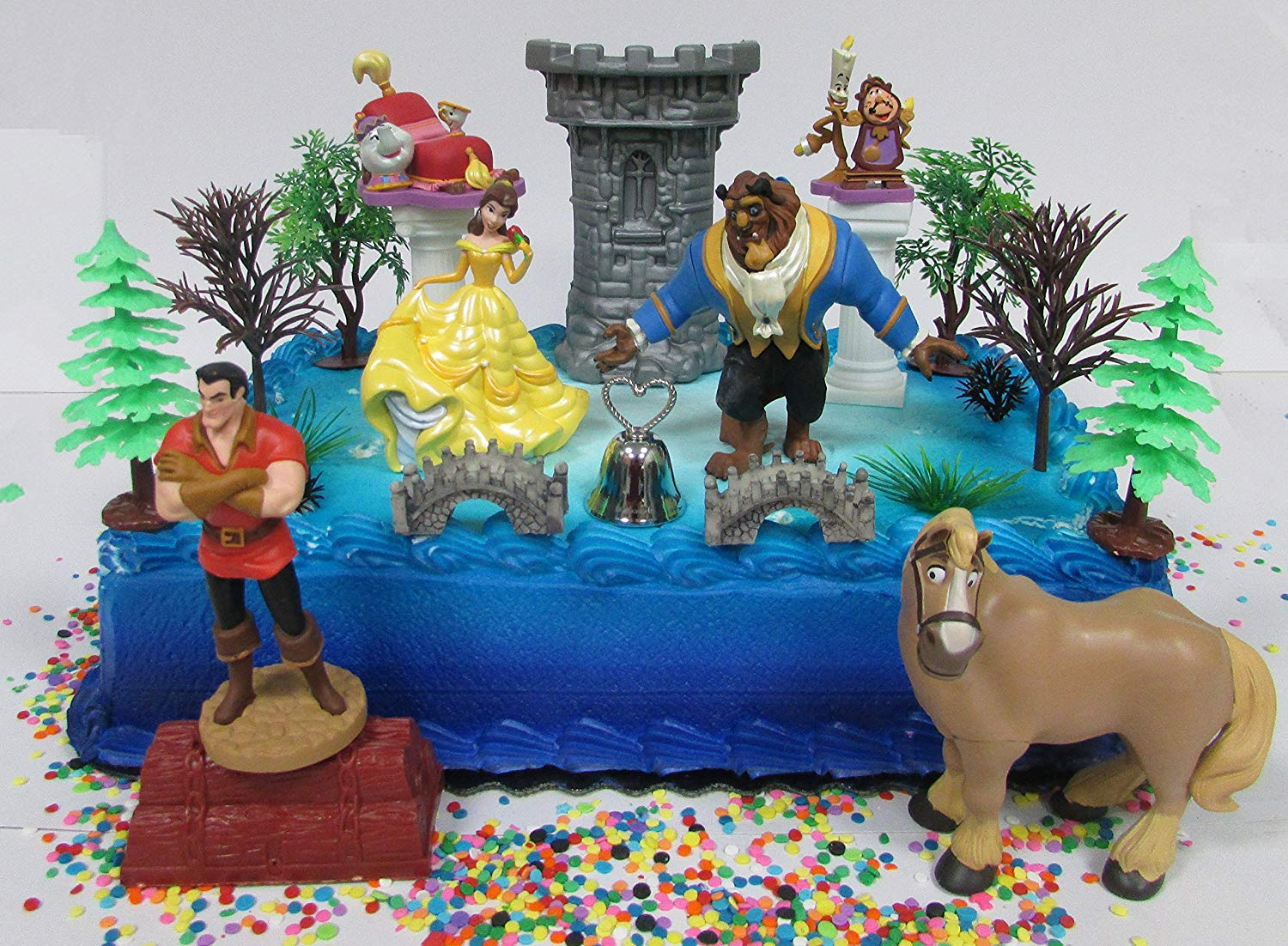 beauty and the beast cake topper