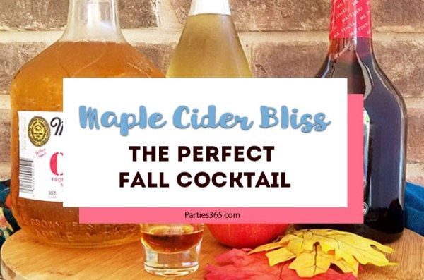 If you've been searching for the perfect fall cocktail, look no further! Our Maple Cider Bliss is an ideal apple cider cocktail with a hint of maple... perfect for brunch, girl's night or a crisp fall afternoon. All the maple cocktail recipe details are here on the blog! | Fall Cocktails Easy | Maple Cocktail Drink Recipes