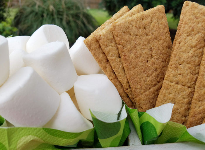 S'mores bars are great at an outdoor party or wedding and if you've been looking for ideas to host your own, you'll want to check out our lumberjack smores bar with Buffalo plaid! And if you love DIY, we have a smores bar menu sign with recipes you can download! Check it out now... #smores #smoresbar #lumberjack #parties365