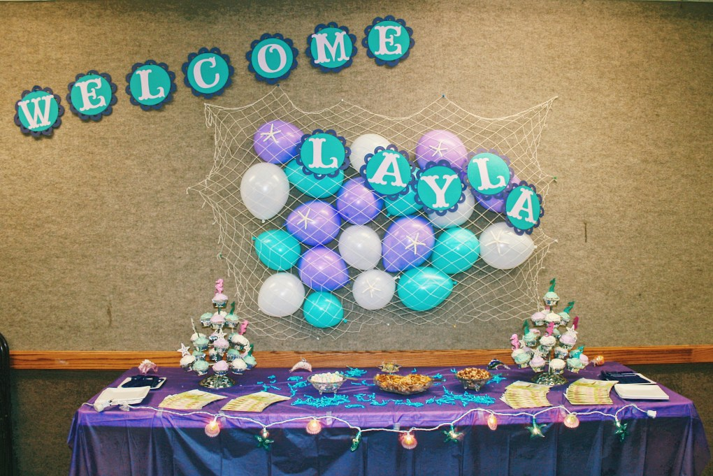 Cute DIY Under the Sea Baby Shower Ideas Dessert Table Decoration and Design
