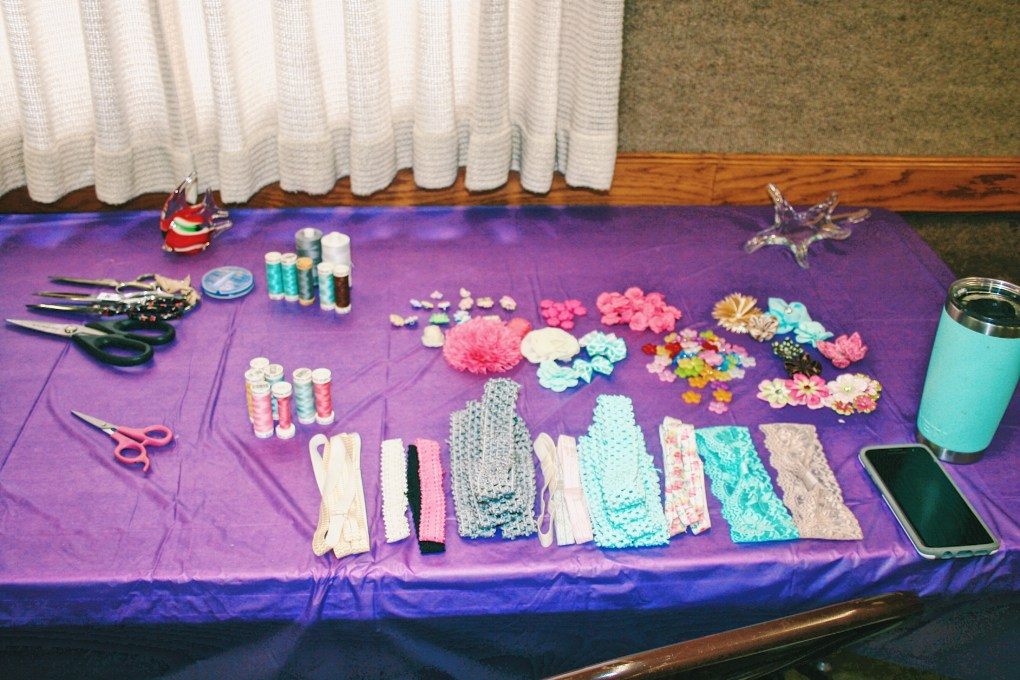 Cute DIY Under the Sea Baby Shower Ideas Headband Decorating Area