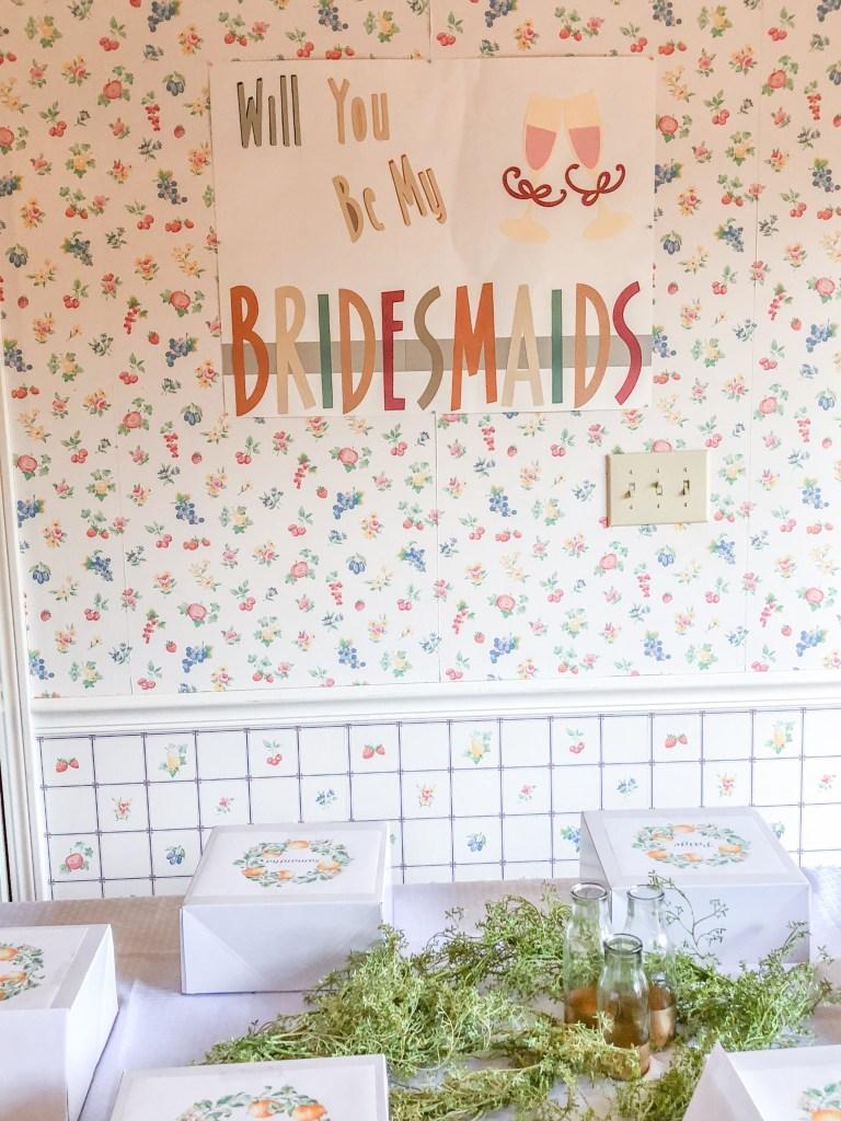 Unique Bridesmaid Proposal Idea: DIY Bridesmaid Brunch with Gift Box Table Setting