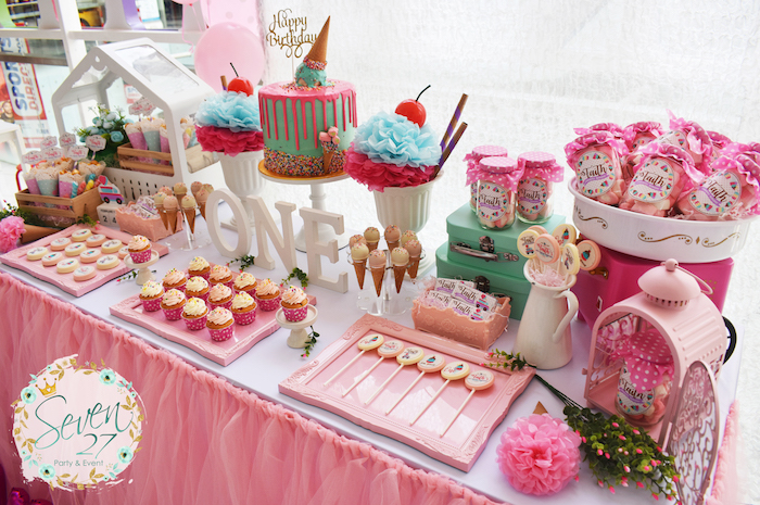 15 Girly Birthday Theme Ideas for Little Girls: Ice Cream Party