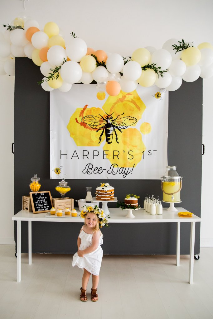 15 Girly Birthday Theme Ideas for Little Girls : Bee-day Bee Themed Party