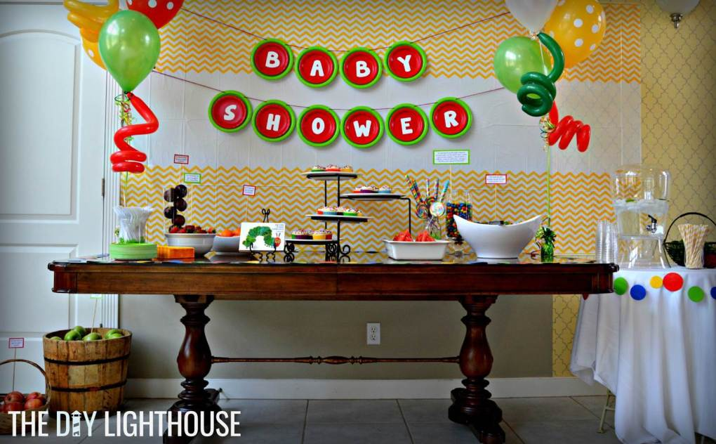 11 Simple and Neutral Baby Shower Theme Ideas: Very Hungry Caterpillar Theme