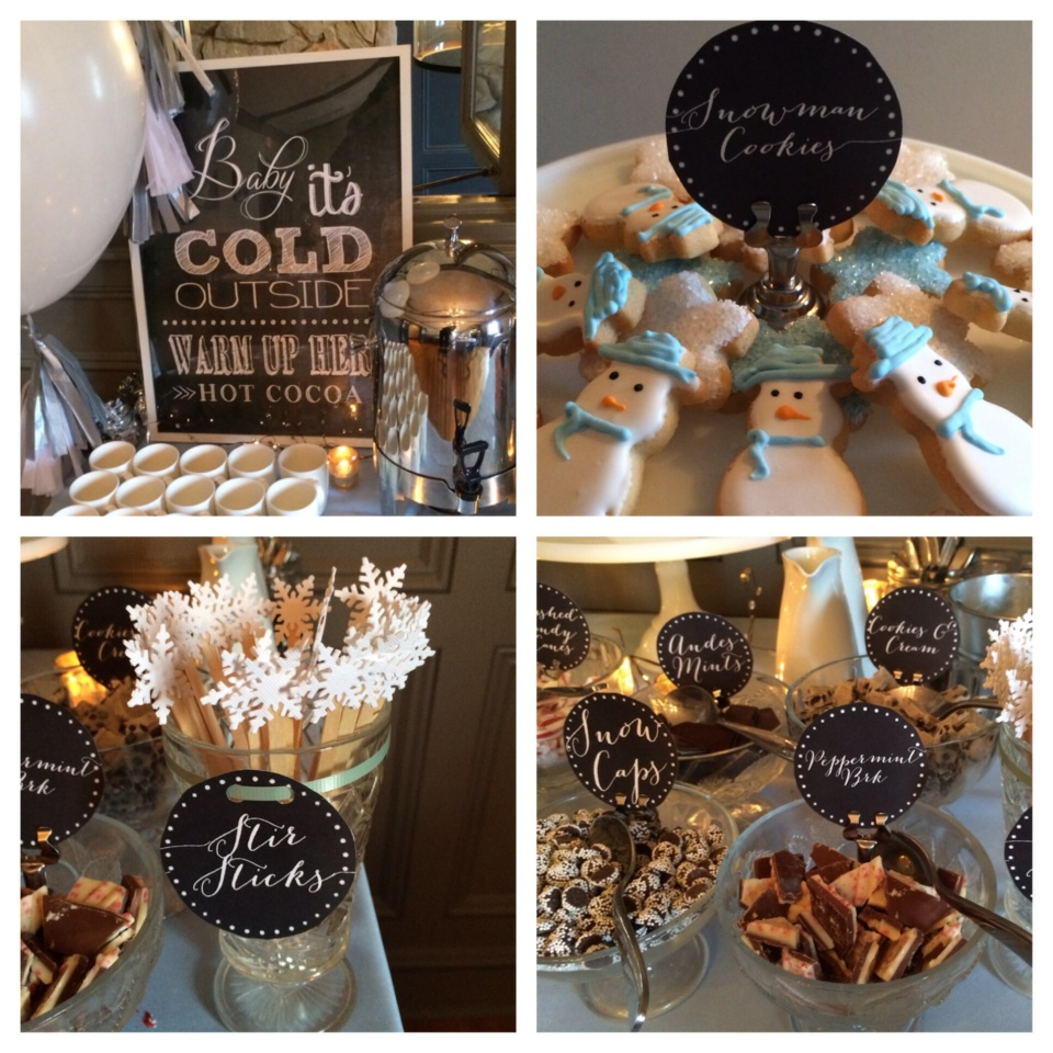 11 Simple and Neutral Baby Shower Theme Ideas: Baby it's Cold Outside