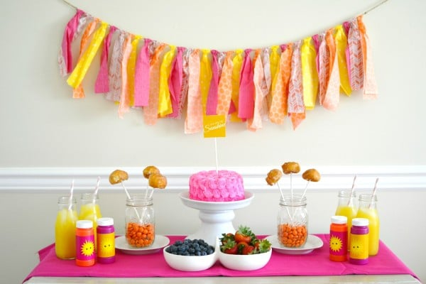 15 Girly Birthday Theme Ideas for Little Girls : Sunshine Party