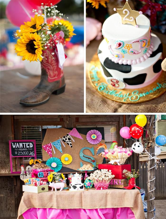 15 Girly Birthday Theme Ideas for Little Girls : Cowgirl and Rodeo Party