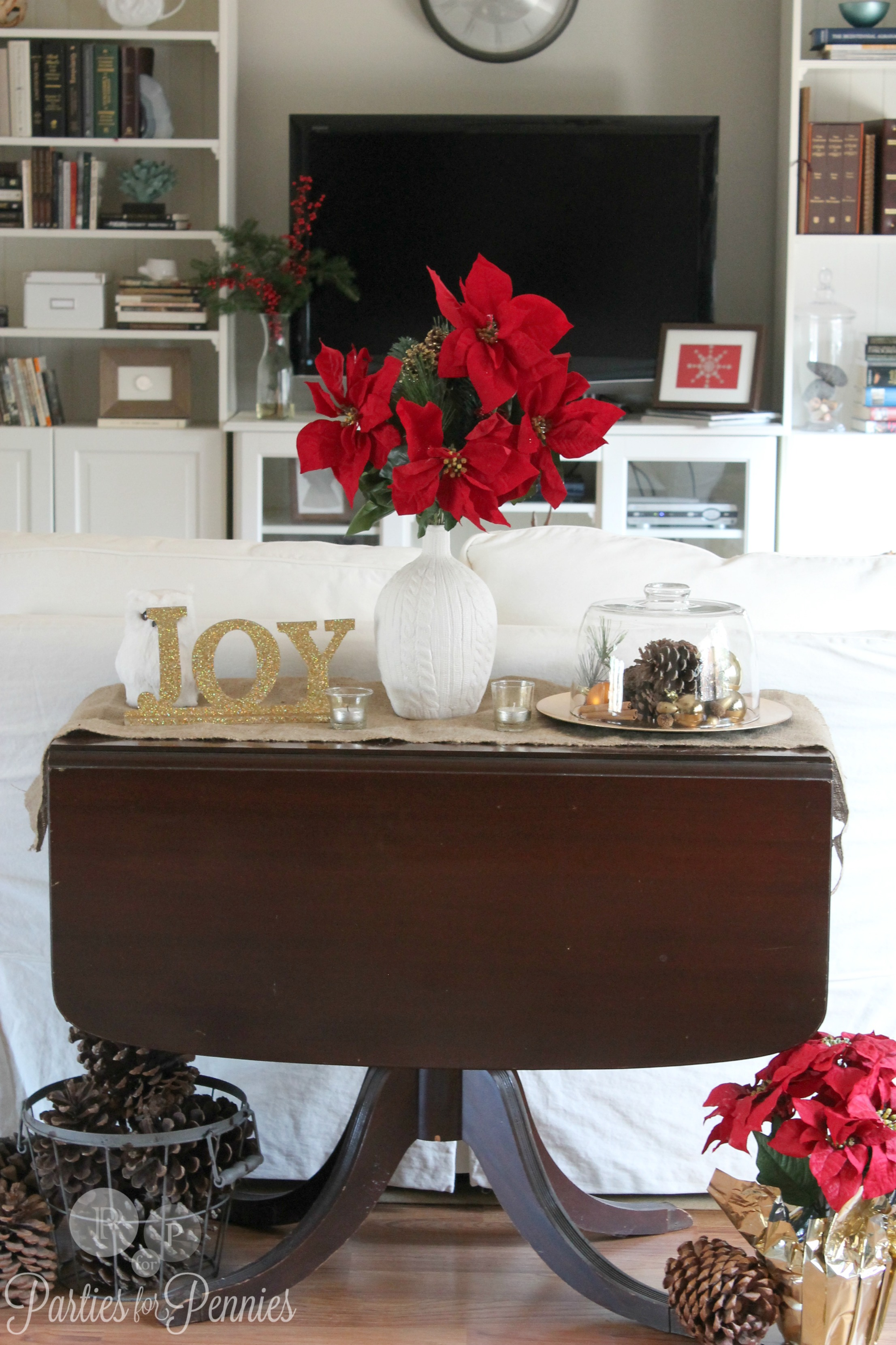 decorating a sofa console table big comfortable sofas uk christmas ideas