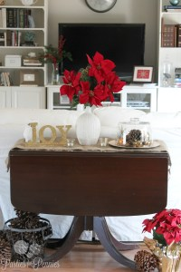 Christmas Decorating A Sofa Table | Ideas Christmas Decorating