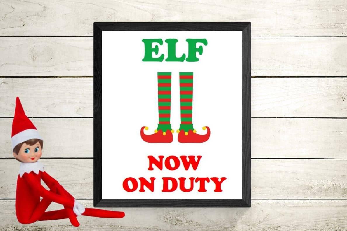 free elf on the shelf printables fun
