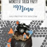 Monster Truck Party Menu Parties With A Cause