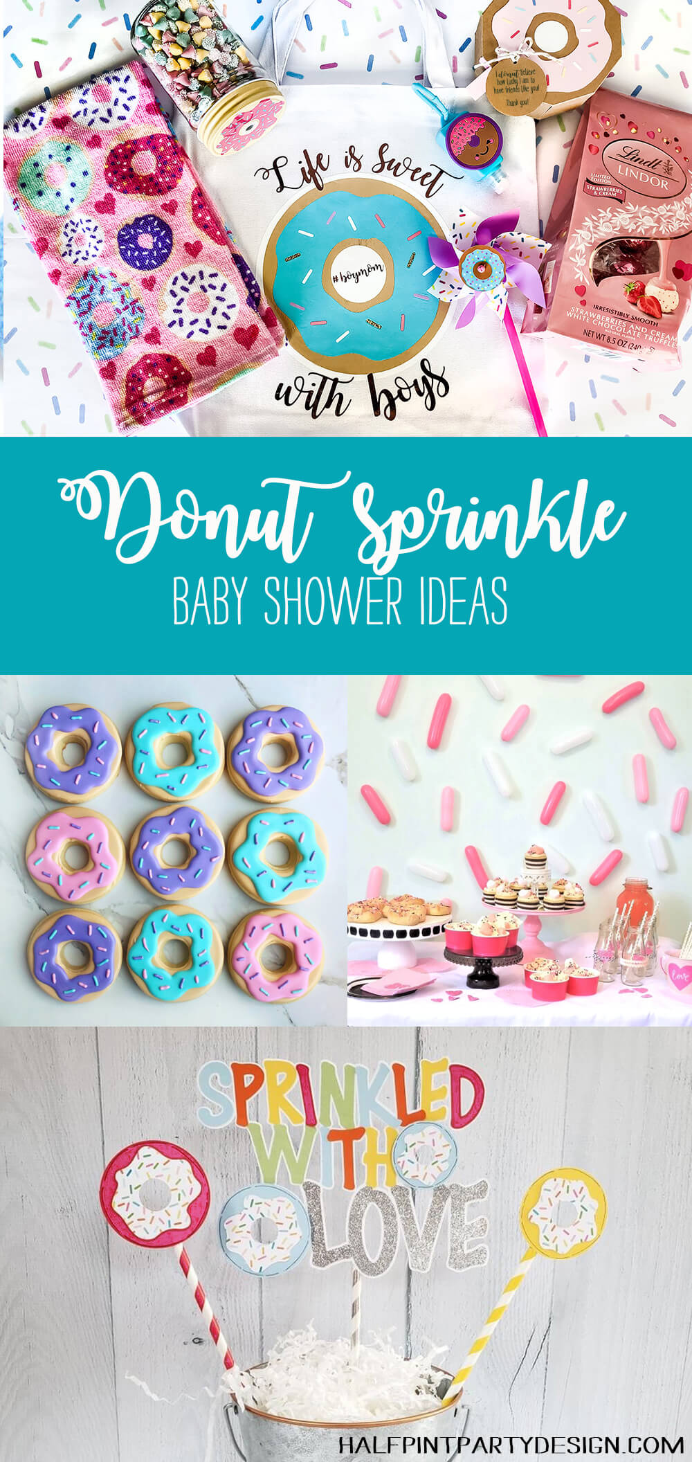 donut sprinkle baby shower