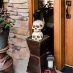 Skeleton Welcome Halloween Front Porch Decoration Ideas Parties With A Cause