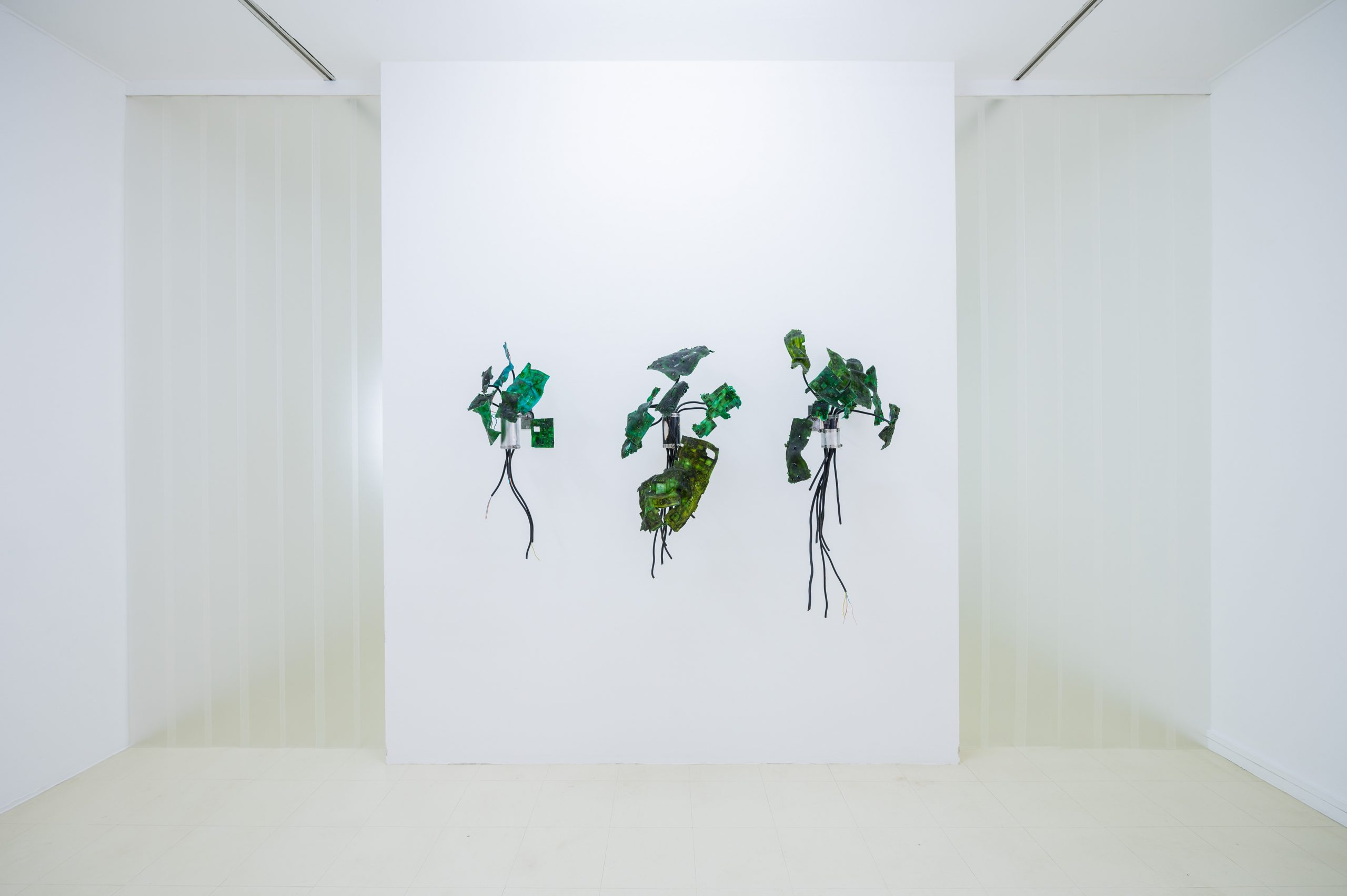 Gillian Brett, Bionic Leaf, 2021, Detail Ausstellung Stadtgalerie Saarbrücken, Foto: Oliver Dietze