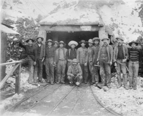 Water law originated with miners like these to divy up water needed for claims in the high Colorado mountains. Image courtesy Denver Public Library Western history & Genealogy Dept.