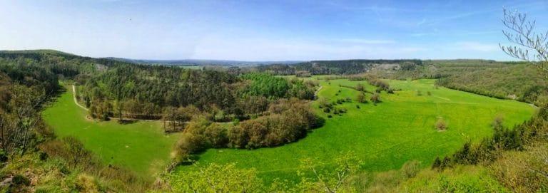 vue panoramique montagne belgique