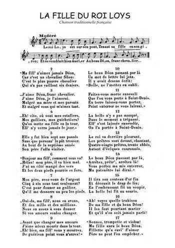 La Fille Au Roi Louis : fille, louis, Fille, Partition, Gratuite