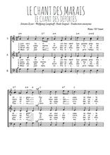 Chant Des Marais Paroles : chant, marais, paroles, Chant, Marais, Partition, Gratuite
