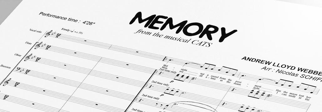 Memory, CATS Musical • Arrangement NS Partitions Harmonie