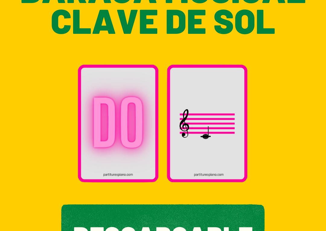 baraja musical clave de sol partiturespiano pdf