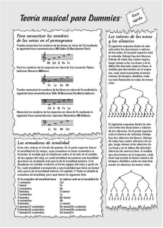 teoria musical para dummies pagina ejemplo