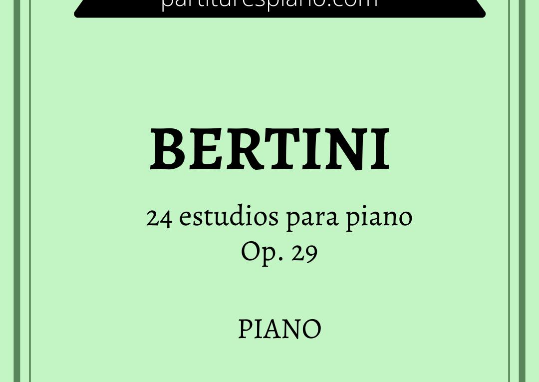 bertini 24 estudios para piano op 29 pdf