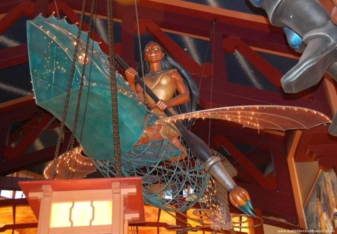 Onde encontrar Pocahontas na Disney