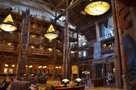 Interior do Wilderness Lodge