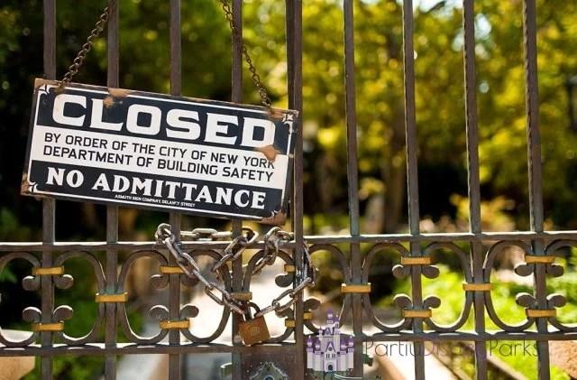 Atracción Cerrada Disney