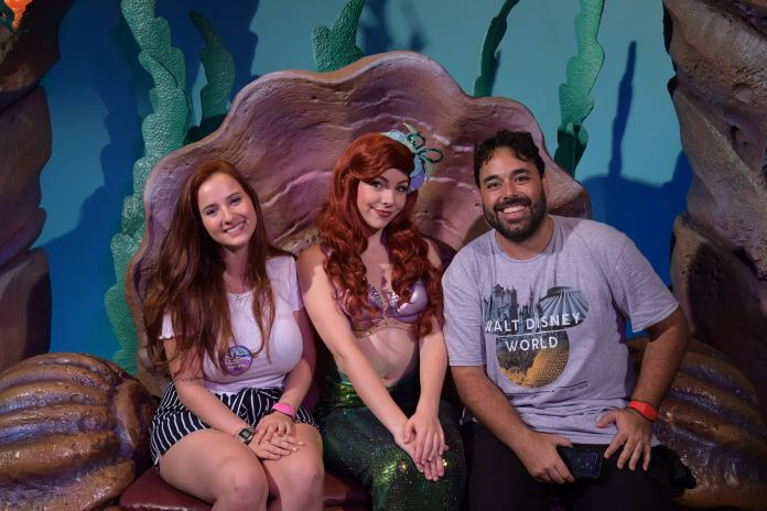 Ariel Meet and Greet no Magic Kingdom