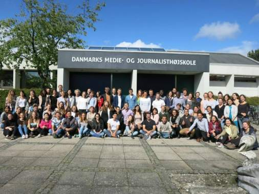 Turma da Helena no mestrado na Dinamarca. Foto: Helena Gertz